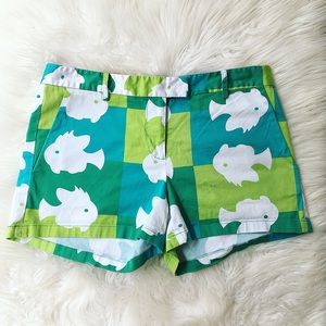 Anthropologie Julie Brown Fish Shorts